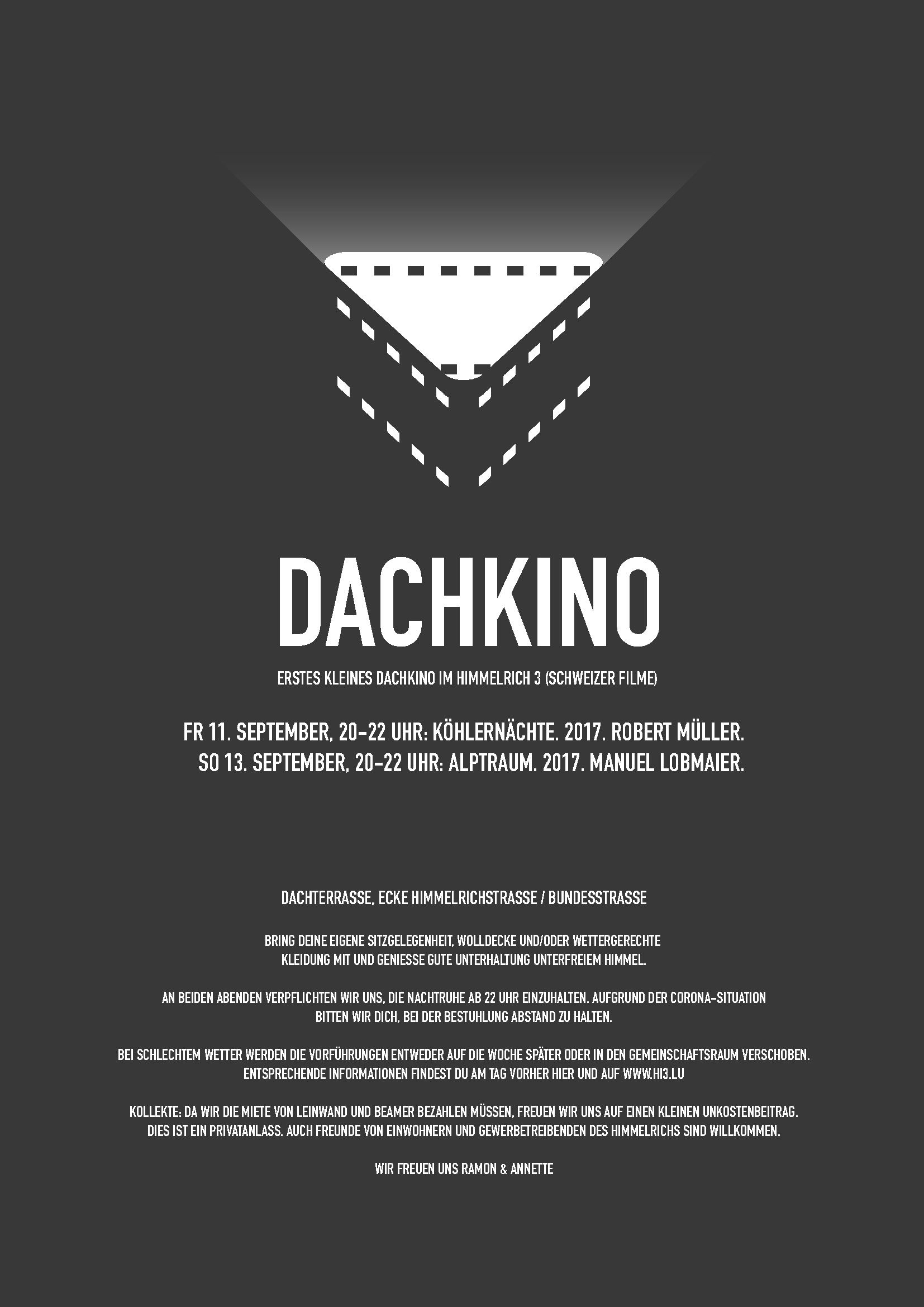 ERSTES KLEINES DACHKINO IM HIMMELRICH 3 (SCHWEIZER FILME)